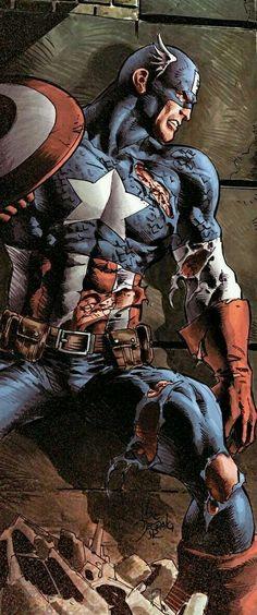 Marvel Comics Art, Marvel Heroes, Marvel Avengers, Comic Book Characters, Comic Book Heroes, Marvel Characters, Capitan America Comic, Bucky, Captain America Art