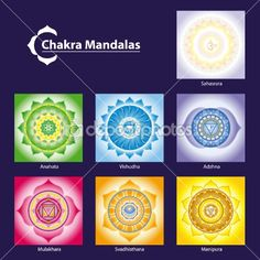 Illustration about Vector Chakra Symbol Mandalas for Meditation to Facilitate Growth and Healing. Illustration of medicine, colour, ornament - 18041517 Mandala Chakra, Mandala Art, Chakra Symbole, Lotus, Mehndi Style, Chakra Colors, Symbols And Meanings, Colored Pencil Techniques, Chakra Meditation