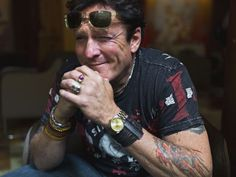 Michael Madsen poses at the Plaza Athenee Hotel, in