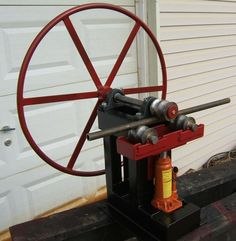 Ring Roller Bender with Hydraulic Assist