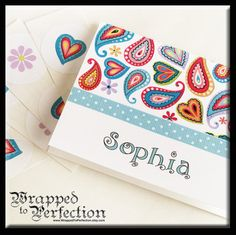 Paisley Note Cards / Bright Colorful / by WrappedToPerfection, $13.25