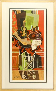 Georges Braque. The Large Gueridon. Lithograph in Colors. 1952.