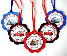 Disney Cars Birthday Party - Set of 24 Favor Bag Tags