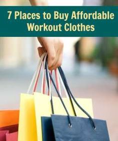A few of our very favorite places to find affordable workout clothes! (And they're cute!)