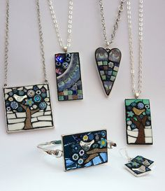 Winter collection by Angela Ibbs Mosaics at BreezyB5, via Flickr