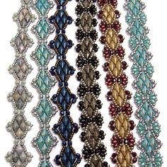 Solitaire Bracelets beaded pattern tutorial by Deb by DebRoberti