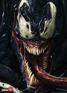 Venom, one of my favorite super villains. Marvel Dc Comics, Comics Anime, Comic Manga, Marvel Venom, Marvel Villains, Bd Comics, Ms Marvel, Marvel Heroes, Comic Book Characters