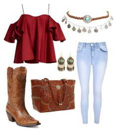 """Cow Girls"" by kenadie-ann-krell on Polyvore featuring Anna October, Glamorous, Ariat, American West and Wet Seal"