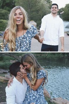 We're obsessed with this couple's adorable engagement photos, and their love story makes it even better. <3