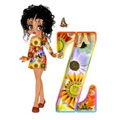 El Rincón De Betty Boop: Abecedario Florar de Betty Boop