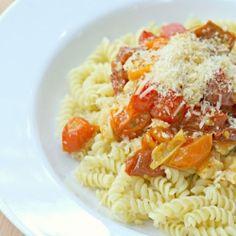 Cherry Tomato and Garlic Pasta by abitchinkitchen