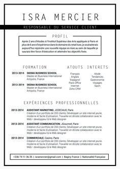 Simple - Pas plus simple que ce CV où l'on voit immédiatement l'information. Droit au but.
