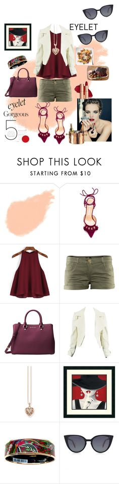 """""""Brunch, Lunch, Dinner Party: Eyelet"""" by griselvega420 ❤ liked on Polyvore featuring Bobbi Brown Cosmetics, Bionda Castana, H&M, Michael Kors, Thomas Sabo, Hermès, Fendi, Old Dutch and eyelet"""