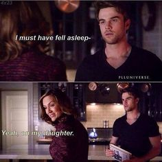 This is hilarious because it's obvious he likes Spencer to so its lik ooooh ima fall asleep on u girl