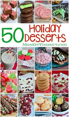 Candy, fudge, cookies, pie and so much more! 50 Festive Holiday Desserts just in time for Christmas!