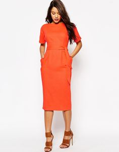 Just when I thought I didn't need something new from ASOS, I kinda do  A fun day event dress or fun work outfit to bring color to the office! Why not!? The linen brings a little sophistication to the look.