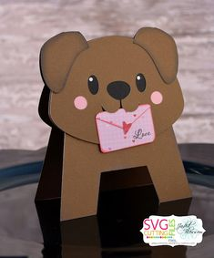 Dog Cards, Kids Cards, Valentine Crafts, Valentine Day Cards, Kids Birthday Cards, Shaped Cards, Animal Cards, Creative Cards, Cute Cards