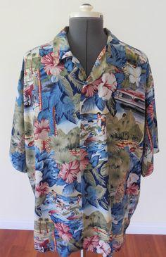 Vintage Tori Richard Hawaiian Aloha Rayon XXL 2XL Shirt Hibiscus Surfers  #ToriRichard #Hawaiian