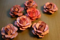 YouTube tutorial for shabby chic paper roses!