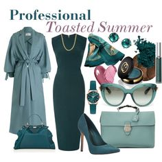 Professional: Toasted Soft Summer by prettyyourworld on Polyvore featuring Rick Owens, Zimmermann, Schutz, Gucci, Fendi, Henry London, Ippolita, Dolce&Gabbana, Hermès and Chantecaille