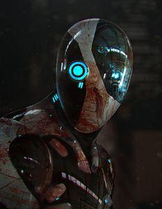 """Zbrush/Keyshot/Photoshop Sketch #6"" by Frankie Perez (frankieperez24) | #SciFi #Robot"