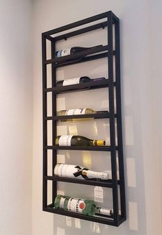 Wine Rack - Dealing With Which Wine To Choose? Hanging Wine Rack, Wine Rack Wall, Wood Wine Racks, Cellar Design, Rack Design, Modern Home Bar, Bedroom False Ceiling Design, Iron Furniture, Diy Interior