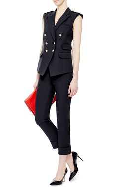 With the right hat ... Or maybe this is more of a Belmont Stakes outfit? / Raw Edge Vest by Band of Outsiders - Moda Operandi