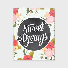 8x10 Art Print Nursery Printable Sweet by PaperCanoePrintables