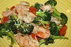 Lean & Green Medifast Recipes: Northern Italian Shrimp and Brocolli