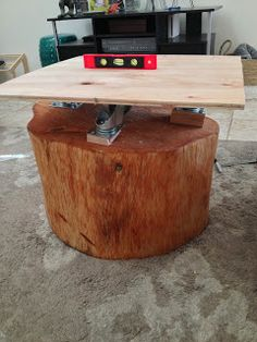 House at the Harbor: Updates to Tree Trunk Table...