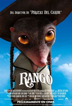 Rango , starring Johnny Depp, Isla Fisher, Timothy Olyphant, Abigail Breslin. Rango is an ordinary chameleon who accidentally winds up in the town of Dirt, a lawless outpost in the Wild West in desperate need of a new sheriff. #Animation #Adventure #Comedy #Family #Western