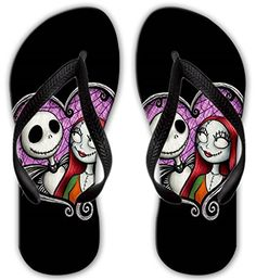 Unique Unisex Printed Nightmare Before Christmas Love Beach Flip Flops Sandals For Men Women And Teens ** Find out more about the great product at the image link.