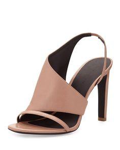 Alexander Wang Benoit Asymmetric Sandal, Sandstorm Nude
