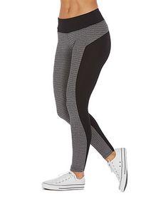Love this Black Stripe Aubrey Leggings by Balance Collection on #zulily! #zulilyfinds