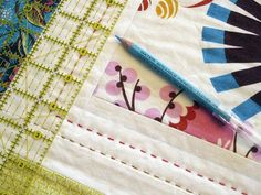 marking quilting lines by StitchedInColor, via Flickr - hand quilting instructions