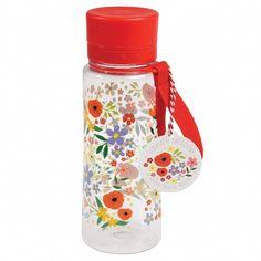 Met deze waterfles met bloemen zit je onderweg nooit meer zonder drinken. Gemakkelijk voor een dagje uit, of in de auto. waterfles met inhoud van 600 ml.