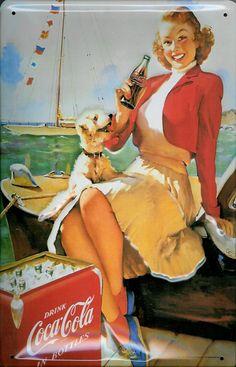 Retro vintage art coca cola 46 new ideas Old Advertisements, Retro Advertising, Retro Ads, Coca Cola Poster, Coca Cola Ad, Coca Cola Bottles, Pepsi, Vintage Coca Cola, Retro Vintage