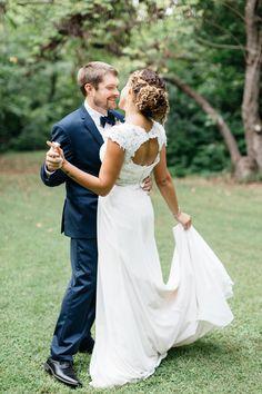 Moonlight Bridal crop-top wedding gown with keyhole back - style J6361  Four Corners Photography Atlanta, Georgia Wedding