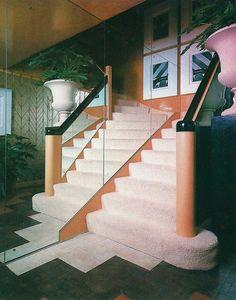 Interior Design and Architecture 80s Interior Design, 1980s Interior, 80s Design, Interior Exterior, Vintage Design, Interior Architecture, Interior Decorating, Design Ideas, Vintage Diy