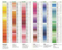 147 best color charts images embroidery thread punto de cruz yarns