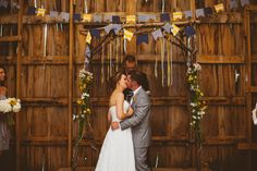 Hat Creek Rustic Wedding Kiss