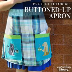 Buttoned-Up Apron (PR2050) from www.emblibrary.com