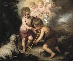 """São João Batista e o """"Cordeiro"""", finais do século XVII."""