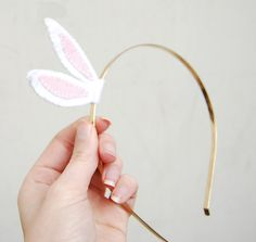 Easter bunny ear headband! So much fancier than the fuzzy ones from the dollar store.