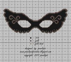 Penelopis' cross stitch freebies: Maska/ The mask