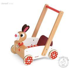 Chariot de marche Crazy Rabbit - jouet d'éveil - Janod - LaPouleAPois.fr
