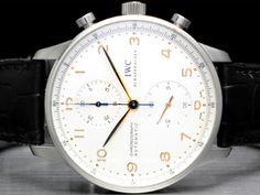 IWC - Portuguese Chronograph IW371401 Cassa: acciaio - 41 mm Vetro: zaffiro Quadrante: bianco - numeri arabi Bracciale: pelle Chiusura: ardiglione Movimento: automatico
