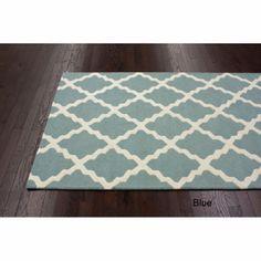 Hand-hooked Alexa Moroccan Trellis Wool Rug (7'6 x 9'6) | Overstock.com dining room