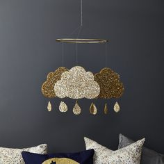 Little Cloud - Glitter Cloud Mobile