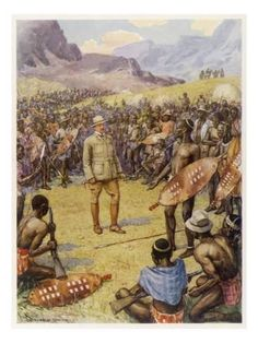 An poster sized print, approx (other products available) - CECIL RHODES Statesman, entrepreneur and imperialist in South Africa, making peace with the Matabele, 1896 - Image supplied by Mary Evans Prints Online - Poster printed in the USA Fine Art Prints, Framed Prints, Canvas Prints, Safari, African History, African Art, Online Images, Rhodes, Photographic Prints